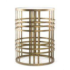 'Weave' Metal Barrel End Table