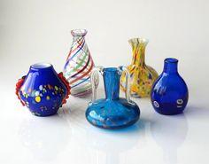 Collezione Vasi di vetro di Murano fatti a mano con di RosaGeranio