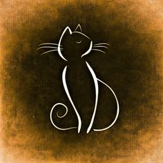 Tile Coaster by – CafePress Liven up any room or party and protect your surfaces with our distinctive tile coasters. Square coaster measuring x thick… Cat Drawing, Line Drawing, Cat Tattoo Designs, Cat Silhouette, Rock Art, Doodle Art, Cat Art, Easy Drawings, Animal Drawings