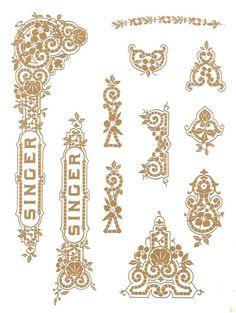 Singer 27 127 Decals for Restorations Tiffany Design - Keeler Sales