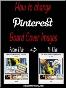 How to Change Pinterest Board Cover Images