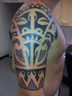 maori tattoo finished clean black sleeve idea face