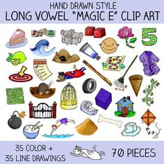 Long and Short OO Clip Art   Phonics Clip Art   Clip art ...