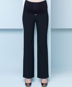 Look what I found on #zulily! Ebru Black Over-Belly Maternity Trouser Pants - Women #zulilyfinds