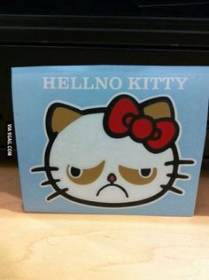 Grumpy Cat - Hello Kitty - Hellno Kitty