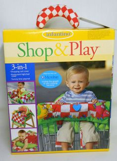 Infantino 3-in-1 Shop & Play Shopping Cart Cover Restaurant Highchair Playmat #Infantino