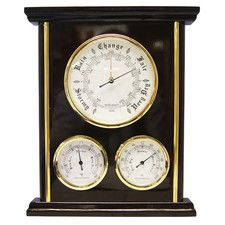 Barometer and Thermometer Clock