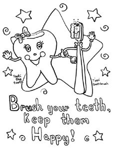 dental health coloring sheets - Google Search | Preschool Crafts ...