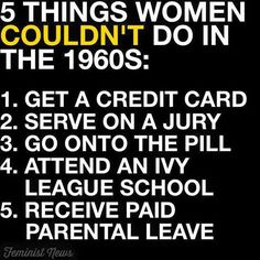 Let that sink in. Also, it's important to remember that Black women and Indigenous women were not afforded the same basic rights that were afforded to white women. For example, white women gained the right to vote and own property decades before Black and Indigenous women. #feminism