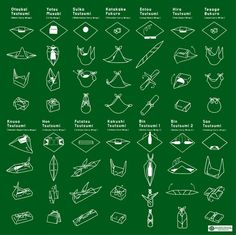 I love this image. It's all the different ways you can fold furoshiki. So functional!