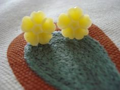 Tiny Yellow Daisy Flower Post Earring 13mm by bohoblossoms on Etsy, $6.00  with coupon code blackfriday30 - 30% off your entire purchase!!!