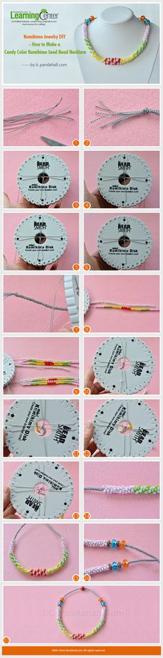 Kumihimo Jewelry DIY - How to Make a Candy Color Kumihimo Seed Bead Necklace from LC.Pandahall.com