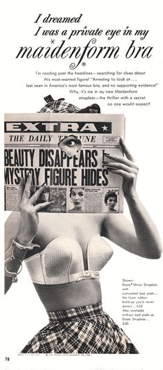 Maidenform | Enter The Strange World Of Vintage Lingerie Ads  http://cosimaobuday.com/