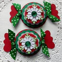 Christmas EmbellishmentsSet of 2 Candies by sarasscrappin on Etsy, $2.99