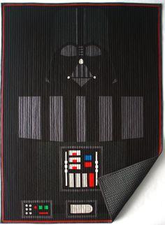 Star Wars baby quilt/Darth Vader baby quilt-MTO by BedHogShop