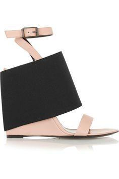 Balenciaga|Leather and elastic sandals(=)
