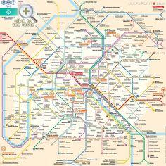 paris map metro plan rer rapid transport tram subway underground tube stations