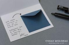 DIY Tarjeta para regalar dinero (versión para él) | Cosas Molonas | Blog de…