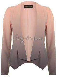 потрясающий шифоновый пиджак с градиентом - Пиджаки | Болеро - City-Dress.ru