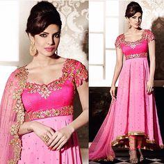 Priyanka Chopra high-low Anarkali  Available with us  Watsapp - +91 9930777376 Email -  fashioncloset06@gmail.com Or DM for enquiries