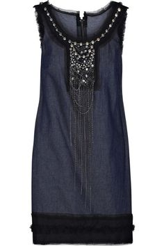 Embellished Denim Dress from Anna Sui. This embellishment has me really intrigued.