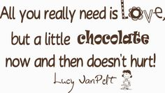 A little chocolate and love goes a long way.
