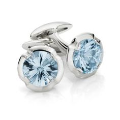 Verve Collection - Gentlemen's Asar cut Aquamarine Cufflinks are perfect to finesse the finishing touches on any outfit. Verve cufflinks are set in Stirling Silver.