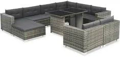 Ivy Bronx Weybridge Outdoor 10 Piece Sectional Seating Group with Cushions Bed Furniture, Outdoor Furniture Sets, Outdoor Decor, Cuir Chesterfield, Rattan Sofa, Sofa Set, Relax, Patio, Steel Frame