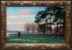 Miłosz Kotarbiński (1854-1944), Spacer o zachodzie słońca - 1900