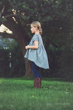 What a fun tunic for your little girl! This pattern is for the Avondale Tunic The Avondale Tunic is a simple, yet modern gathered blouse. With multiple sleeve options and full facings, this lightweight blouse is perfect for every season. A slightly fitted bodice gives this blouse a
