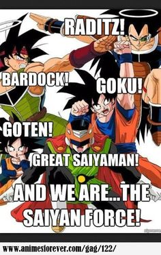 dragon ball z anime family