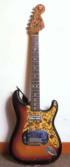 One of Ry Cooder's 60's Coodercaster. A very modified Fender Strat....