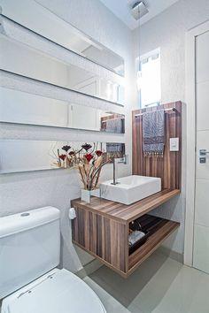 Modern bathroom by Patrícia Azoni Arquitetura + Arte