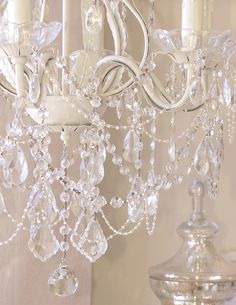 Ivory Crystal Nursery Chandelier at Jack and Jill Boutique. www.rusticevents.com