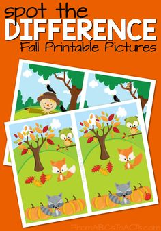 Spot the difference with these fun fall printables that are perfect for preschoolers and kindergartners!