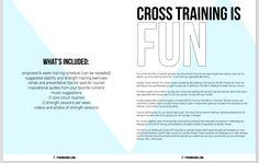 another example of my style with Cross Training is fun e-book intro pages