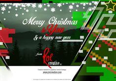 Christmas card graphic design