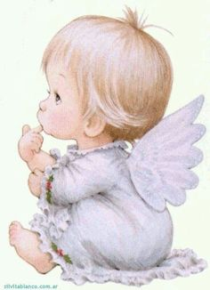 Baby and teddy bear Illustration Angel Images, Angel Pictures, Cute Pictures, Sarah Kay, Christmas Angels, Christmas Art, Illustrator, Angels Among Us, Guardian Angels