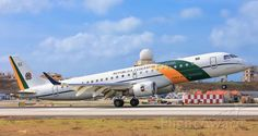 Brazilian Air Force Embraer VC-2 touching down at St. Maarten