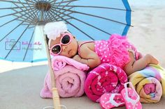 Summer Baby Photos, Baby Beach Pictures, Baby Girl Photos, Newborn Pictures, 5 Month Old Baby, 1 Month, Milestone Pictures, Foto Fun, Baby Girl Photography