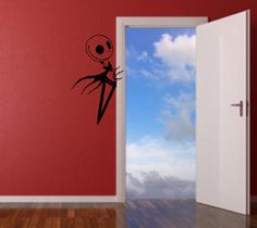Think Sean will let me get this for our house?  Jack Skellington Wall Decal by TheSomberRaven on Etsy, $32.00