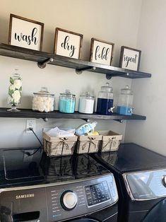 Laundry Room Remodel, Laundry Room Signs, Laundry Decor, Laundry Room Organization, Laundry Detergent Storage, Organization Ideas, Laundry Room Shelves, Small Laundry Rooms, Organizing