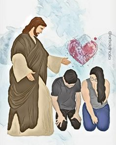 Jesus praying over and for ❤ young couple ❤ Godly Marriage, Godly Relationship, Jesus Art, My Jesus, Christian Couples, Christian Life, Bible Art, Bible Verses, Jesus Cartoon