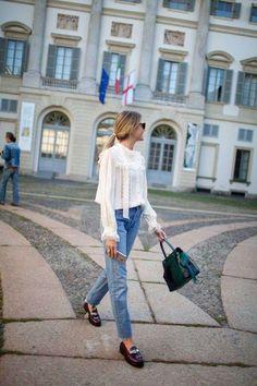 Tendenza camicie vittoriane 2016 - Look camicia e jeans