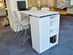 Collaboration area using Kimball products (Fluent casegoods and Bingo stools) design@corporatedesigninteriors.com for more information