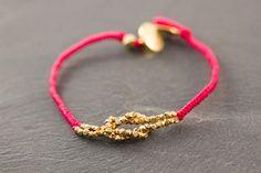 Infinity Love Bracelet  Gold plated Sterling by LesPetitRonds, $35.00