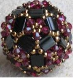 Tila-sphere beaded bead schema.  #Seed #Bead #Tutorial