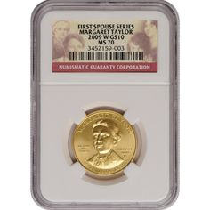 2009-W First Spouse Margaret Taylor Half Ounce Gold Coin MS70 NGC