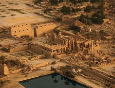 Aerial view of The Temple Complex at Karnak, Ancient Egypt
