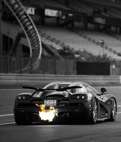 Flaming Koenigsegg on Fire